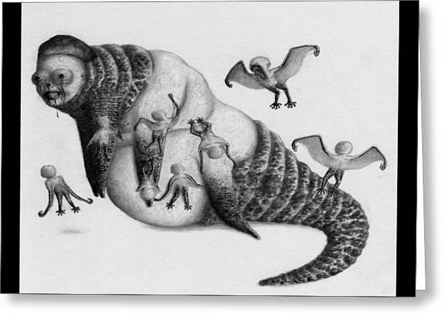 Astrid The Nightmare Nurturer - Artwork Greeting Card