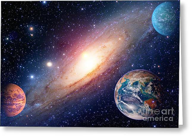 Astrology Astronomy Earth Outer Space Greeting Card
