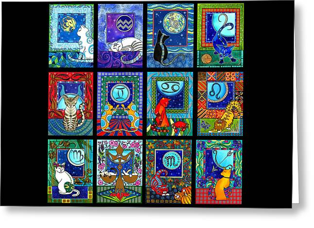 Astrology Cat Zodiacs Greeting Card