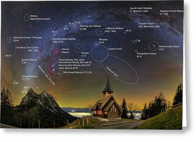 Astrophotography Winter Wonderland Greeting Card