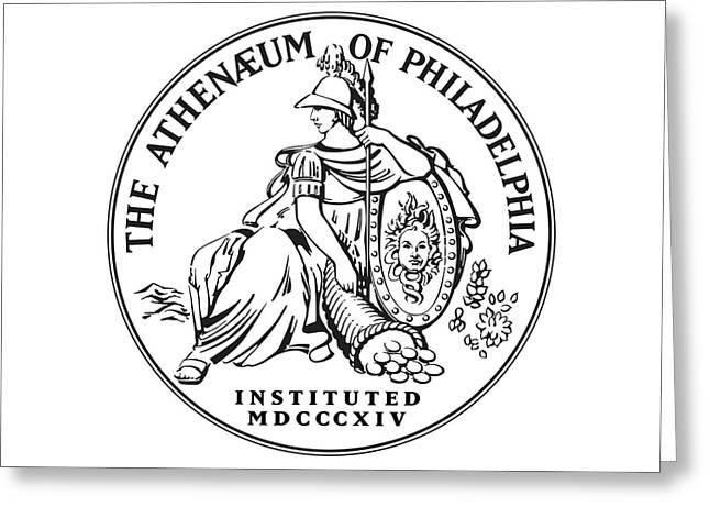 Athenaeum Of Philadelphia Logo Greeting Card