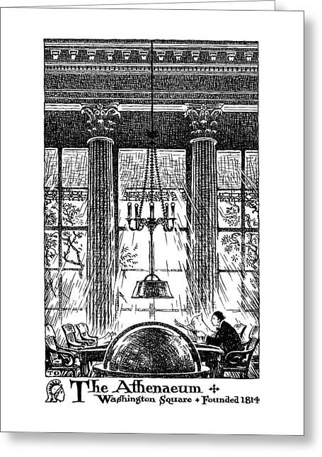 Athenaeum Reading Room Greeting Card