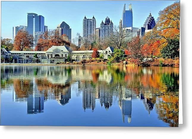 Atlanta Reflected Greeting Card