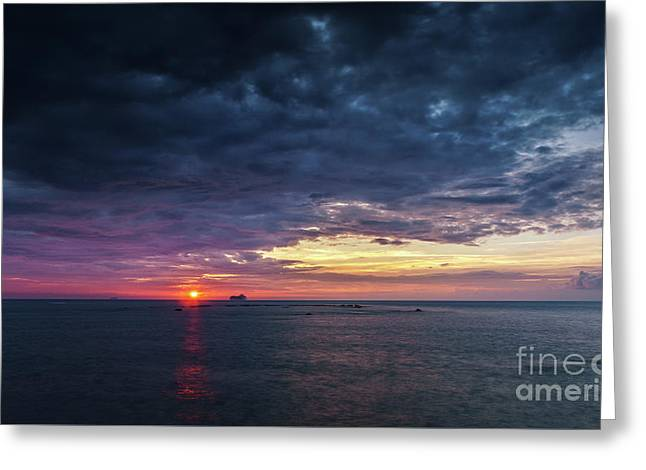 Greeting Card featuring the photograph Atlantic Ocean Sunset by Pablo Avanzini