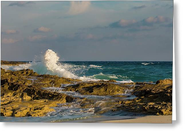Greeting Card featuring the photograph Atlantis Breakers by Jeff Phillippi