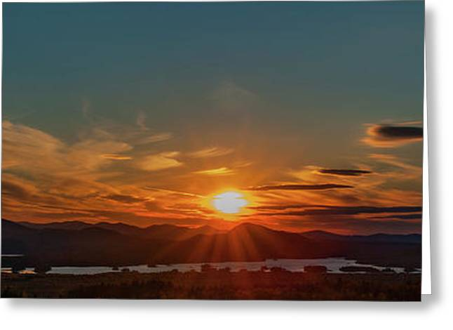 Greeting Card featuring the photograph Attean Pond Sunset by Rick Hartigan