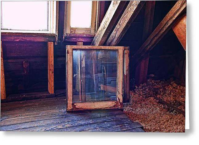 Greeting Card featuring the photograph Attic #1 by Mark Jordan