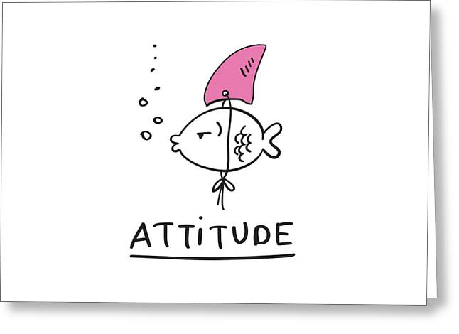Attitude - Baby Room Nursery Art Poster Print Greeting Card