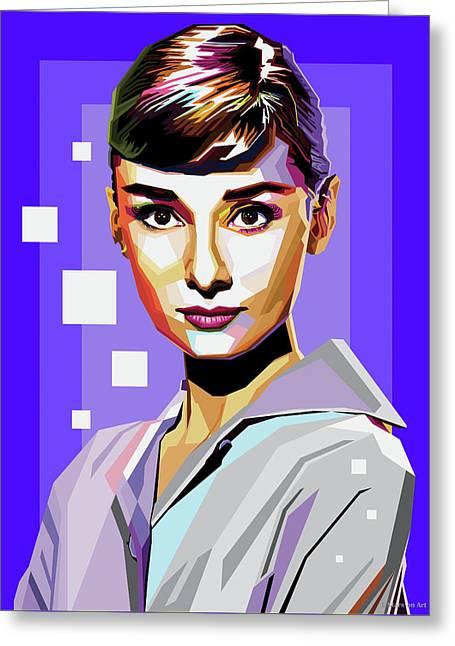 Audrey Hepburn Greeting Card