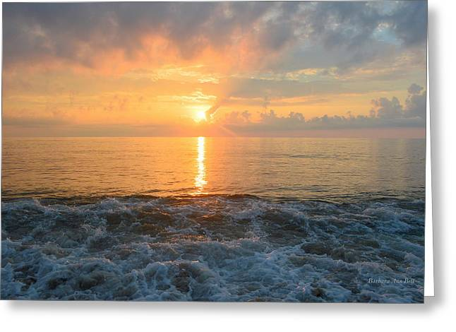 Greeting Card featuring the photograph August Obx Sunrise by Barbara Ann Bell