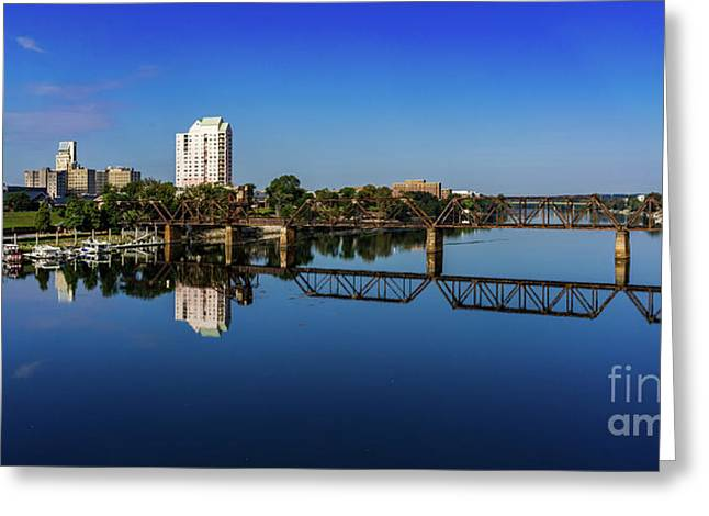 Augusta Ga Savannah River Panorama Greeting Card