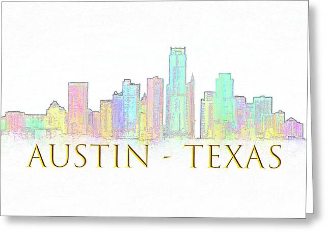 Austin Skyline Greeting Card