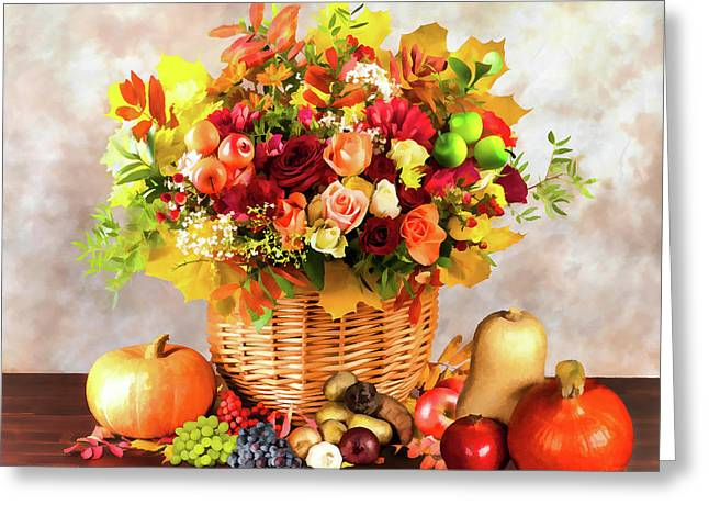 Autum Harvest Greeting Card