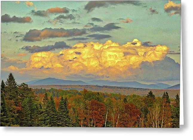 Autumn Clouds Over Maine Greeting Card