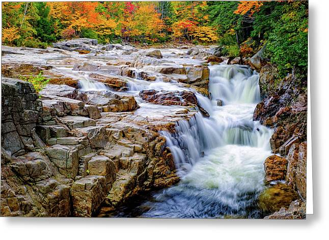 Autumn Color At Rocky Gorge Greeting Card
