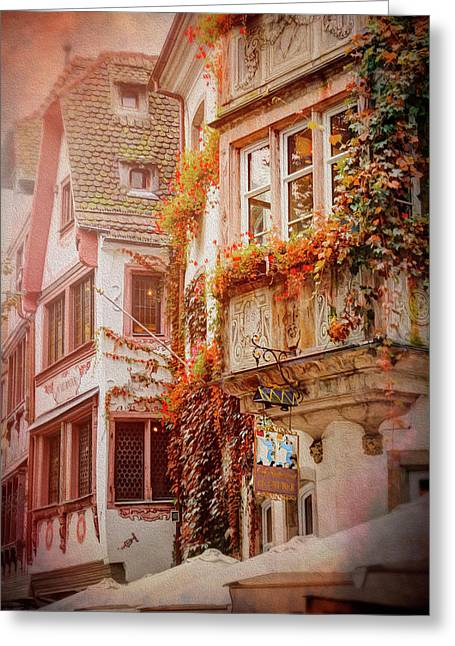 Autumn Colors In Strasbourg France Greeting Card