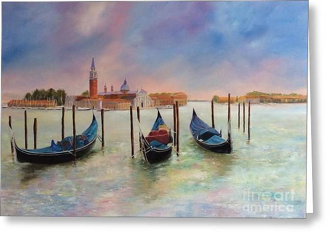 Autumn Evening On Venice Greeting Card