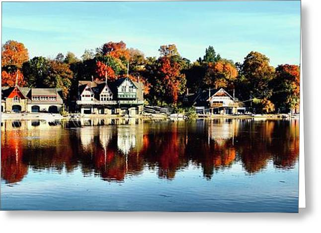 Autumn Houses Greeting Card by Stacey Granger