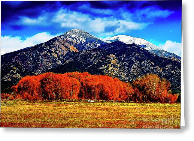 Autumn In Taos New Mexico Greeting Card
