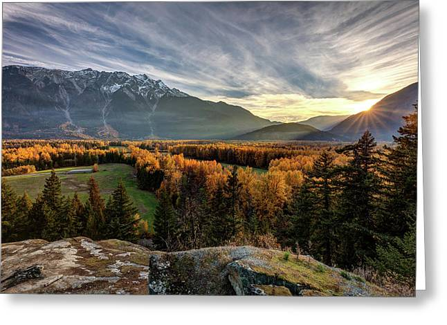 Greeting Card featuring the photograph Autumn In The Valley Of Pemberton by Pierre Leclerc Photography