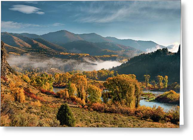 Autumn Light Along The Snake River Greeting Card