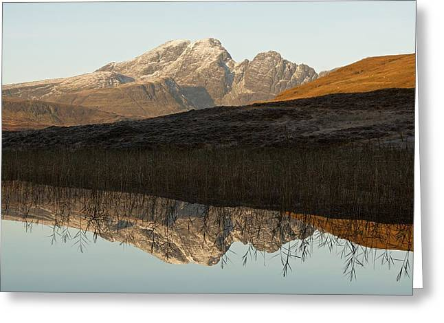 Greeting Card featuring the photograph Autumn Meets Winter At Blaven by Stephen Taylor