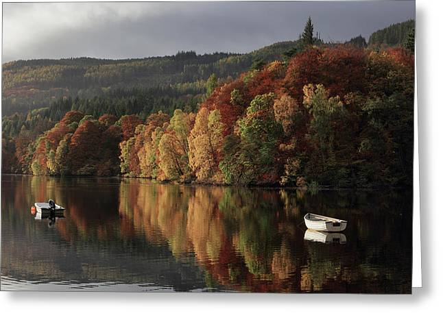 Greeting Card featuring the photograph Autumn Morning by Grant Glendinning