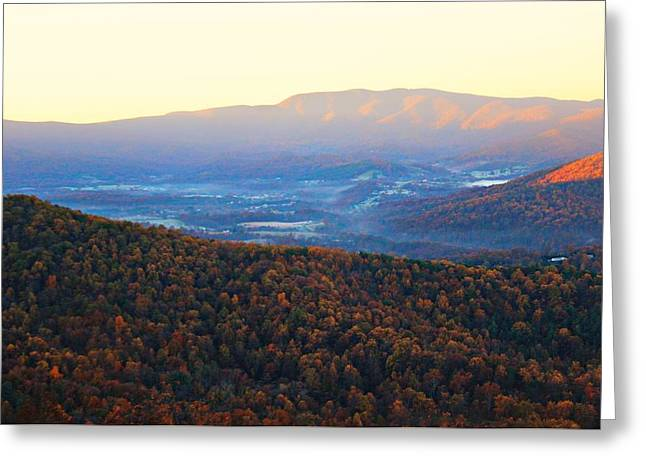 Greeting Card featuring the photograph Autumn Mountains  by Candice Trimble