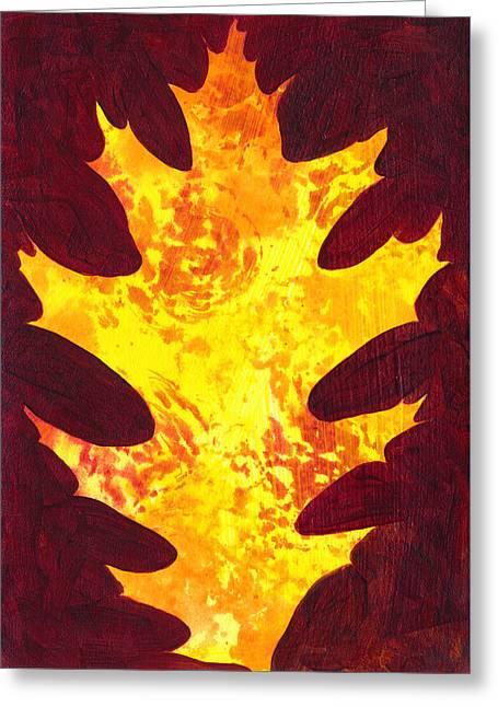 Autumn Oak 1 Greeting Card