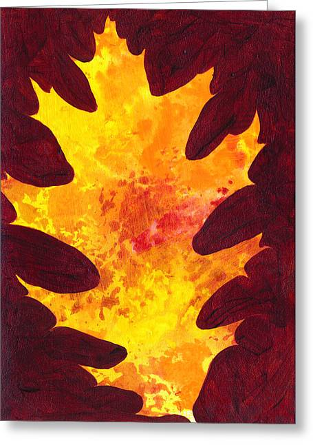 Autumn Oak 3 Greeting Card