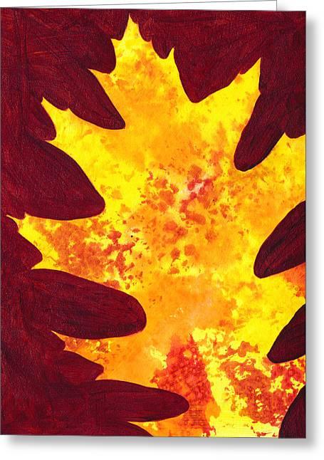 Autumn Oak 4 Greeting Card