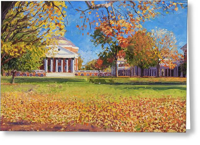 Autumn On The Lawn Greeting Card