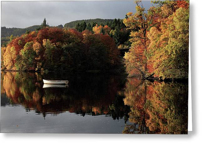 Greeting Card featuring the photograph Autumn Reflections by Grant Glendinning