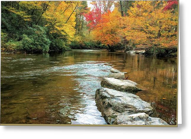 Greeting Card featuring the photograph Autumn River Reflections by Claire Turner