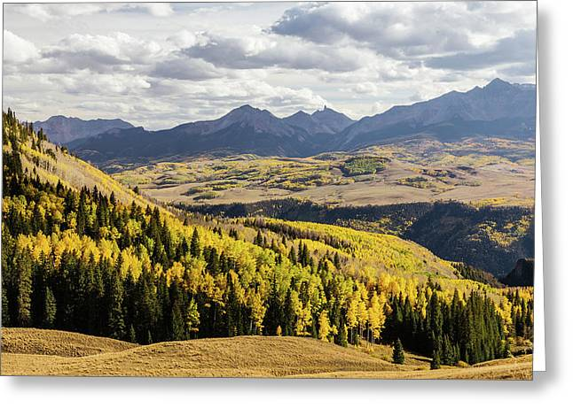 Greeting Card featuring the photograph Autumn Season View Of Sneffles Ten Peak by James BO Insogna