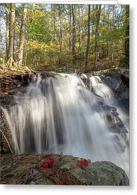 Greeting Card featuring the photograph Autumn - Secret Waterfall 3 by Brian Hale