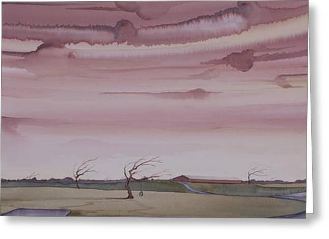 Autumn Skies On The Kirby Farm Greeting Card