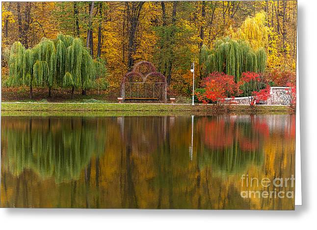 Autumn Tints Of Nature,park In Autumn Greeting Card by Photosite