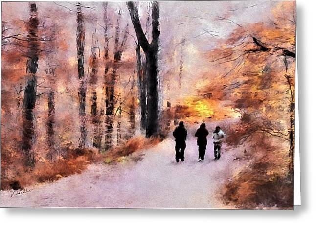 Autumn Walkers Greeting Card