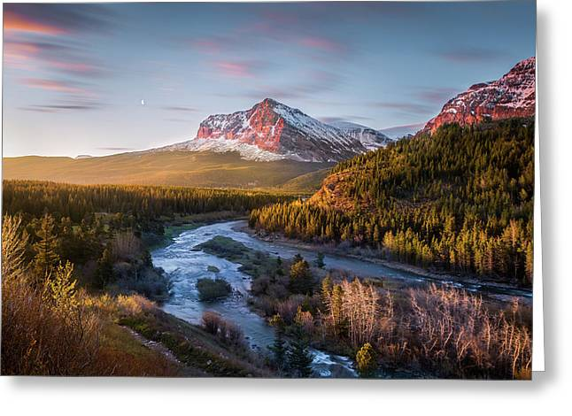 Awakening // Many Glacier // Glacier National Park  Greeting Card