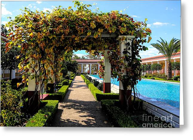 Awesome J Paul Getty Villa Pacific Palisades California  Greeting Card