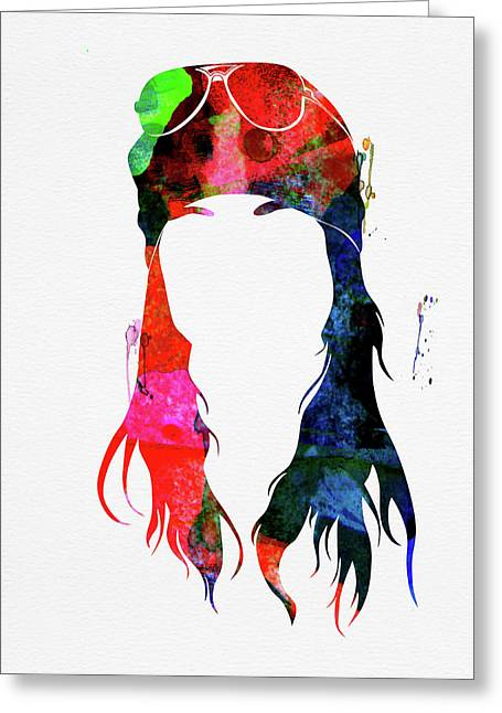 Axl Rose Watercolor Greeting Card