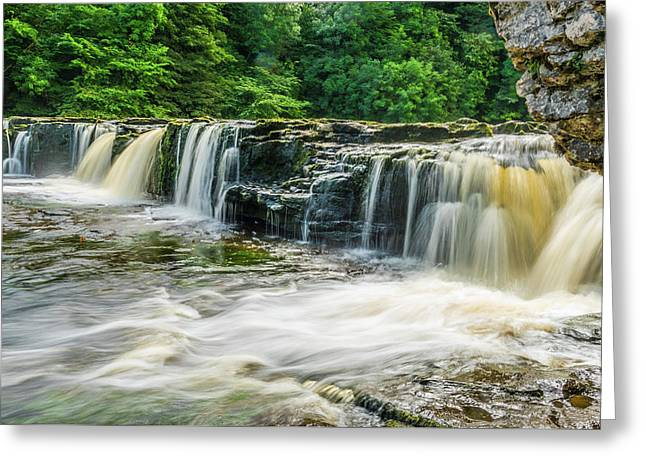 Aysgarth Upper Falls, Yorkshire Dales Greeting Card by David Ross