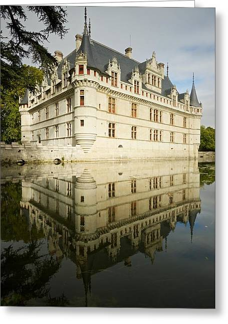 Greeting Card featuring the photograph Azay-le-rideau by Stephen Taylor
