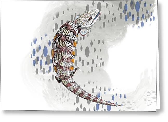 B Is For Blue Tongue Lizard Greeting Card