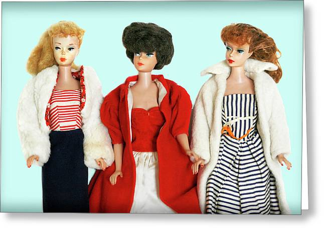 Baby It's Cold Outside Barbies Greeting Card