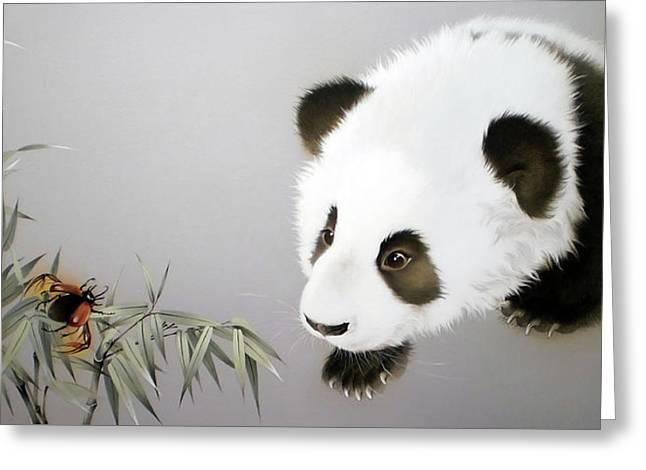 Baby Panda - Explorer Greeting Card