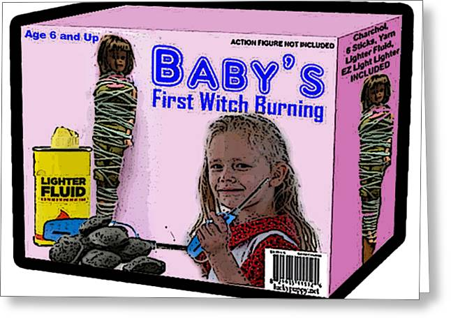 Baby's First Witch Hunt Greeting Card