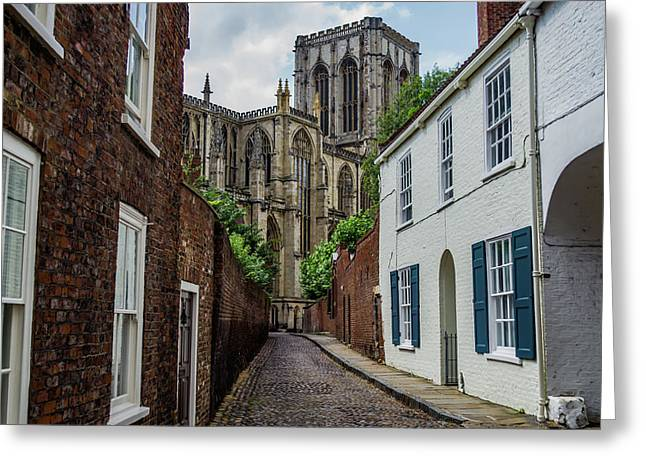 Back Alley To York Minster Greeting Card