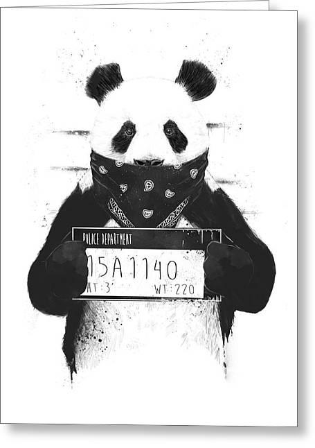 Bad Panda Greeting Card